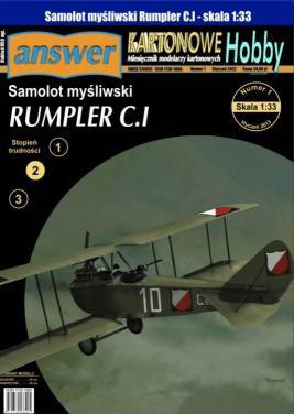 043   *   10/13    *  Samolot mysliwski  RUMPLER  C.I(1:33)   *   Answer  KH