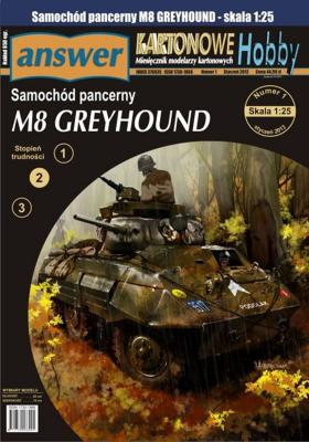 038   *  5/13   *   Samochod pancerny M8 Greyhound (1:25)   *   Answer  KH