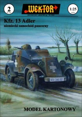 002    *   Kfz. 13 Adler (1:25)    *    WEKTOR
