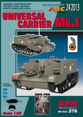 GP-361 *   24\13\376  *   UNIVERSAL  CARRIER  Mk.I(1:25)
