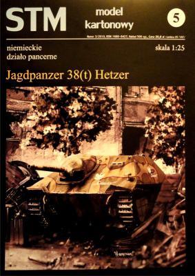 """05         *            Niemieckie dzialo pancerne """"Jagdpanzer 38 (t) Hetzer"""" (1:25)      *     STM"""