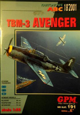 GP-112   *    18\01\191   *     TBM-3 Avenger (1:33)