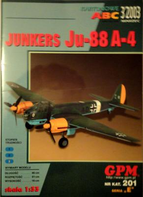 GP-123   *    3\03\201   *    Junkers Ju 88 A-4 (1:33)