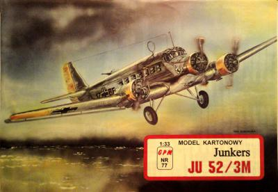 077  *  Junkers Ju 52/3m (1:33)        *       GPM-ct