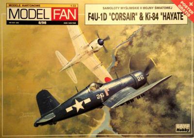 """08      *    8\98   *   F4U -1D Corsair & Ki-84 """"Hayate"""" (1:33)       *      M-FAN"""