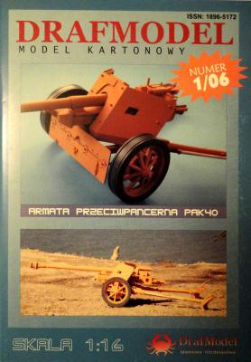 1\06    *   Armata Przeciwpancerna PAK40 (1:16)      *     DRAF