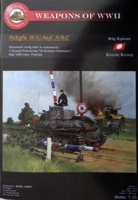 M\H-07         *              PzKpfw 38 (t) Ausf. A/B/C (1:25)     Model-Com     +резк+стволы+детали+трос+гусеницы