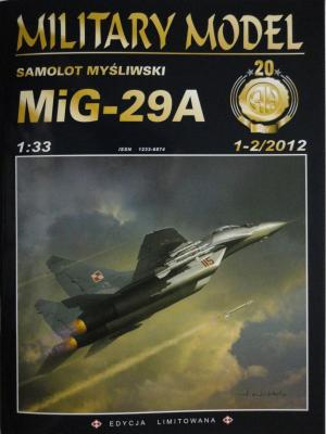 034  *  1-2\12     *      Samolot mysliwski Mig-29A (1:33)      *     HAL *  MM