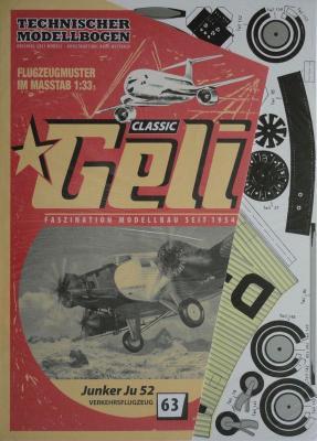063    *     Junkers JU 52 (1:33)      *    GELI