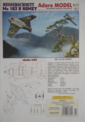 011\03       *          Messerchmitt Me-163 B Komet (1:50)       *     ADORE