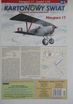 008\03      *      Nieuport 17 (1:50)      *    KS
