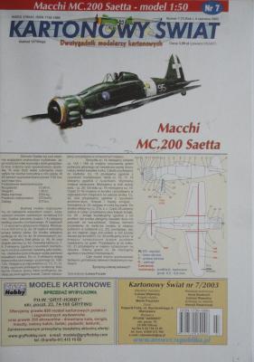 007\03      *        Mscchi MC.200 Saetta (1:50)      *      KS