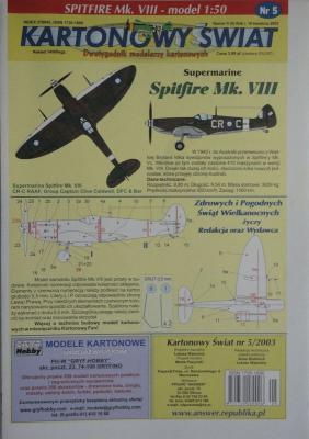 005\03     *      Spitfire Mk.VIII (1:50)      *       KS