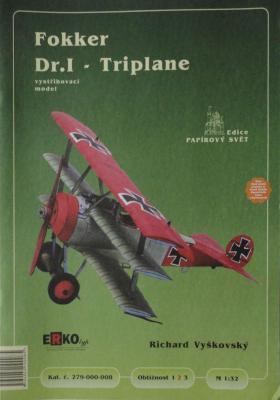 """008    *      Fokker Dr.I """"Triplane"""" (1:32)      *    ERKO"""