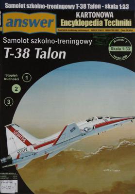 022         *         1\08           *             Samolot szkolno-treningowy T-38 Talon (1:33)      *    Answer KET