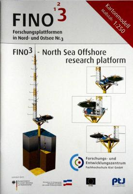 Fino3 - North Sea Offshore research platform (1:250)      *    HMV