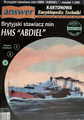 """010     *     Isp\05     *      Brytyjski stawiacz min HMS """"Abdiel"""" (1:200)      *    Answ KET"""