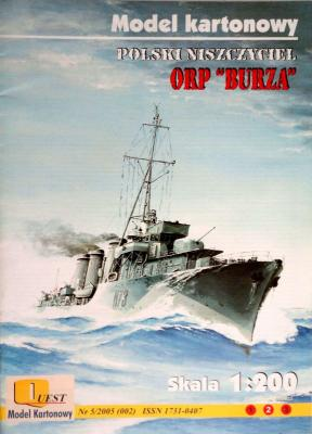 "002    *   5\05    *     ORP ""Burza"" (1:200)      *    QUEST"