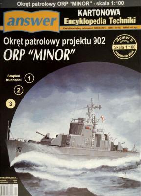 """007    *    IIsp\04    *    Okret patrolowy projektu 902 ORP """"Minor"""" (1:100)     *    Answ  KET"""