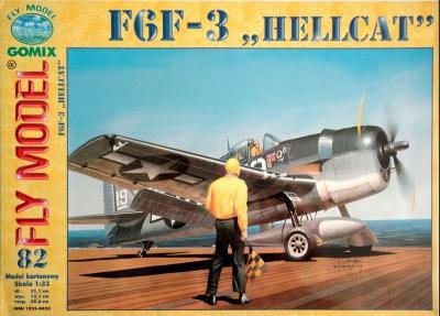 """GOM-082     *      F6F-3 """"Hellcat"""" (1:33)"""