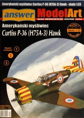 006   *    I sp\05    *Amerykanski mysliwiec Curtiss P-36 (H75A-3) Hawk (1:33)      *   Answ Mod Art
