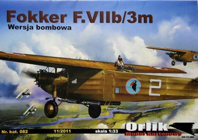 082    *    Fokker F.VIIb/3m (1:33)      *    ORL