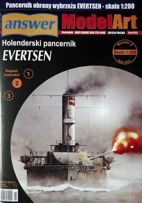 029    *    5\10    *   Holenderski pancernik Evertsen (1:200)     *   Answ Art