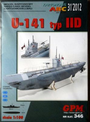 GP-329   *  31\12\346  *  U-141 typ IID (1:100)   +  аксесуары