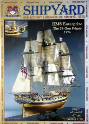 032   *   HMS Enterprize the 28-Gun Frigate 1774 (1:96)   *  SHIP