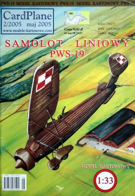 2\05   *   Samolot liniowy PWS-19 (1:33)    *   CARD-PLAN