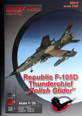 "Hob\M-107   *   Republic F-105D Thunderchief ""Polish glider"" (1:33)"