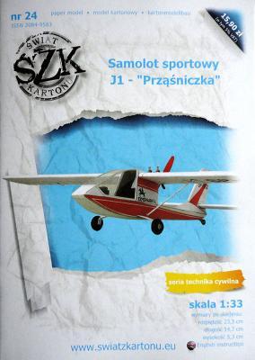 "024    *   Samolot sportowy J-1 ""Przasniczka"" (1:33)   *  SzK"