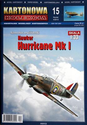 15   *  4\12   *  Samolot mysliwski Hawker Hurricane Mk I (1:33)    *   KART KOL