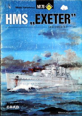 """78   *   HMS """"Exeter""""(1:200)   *   Mod Card"""
