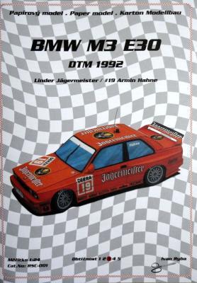 091*   BMW M3 E30 DTM 1992 (1:24)  *  Ondr  Hejl-Rally