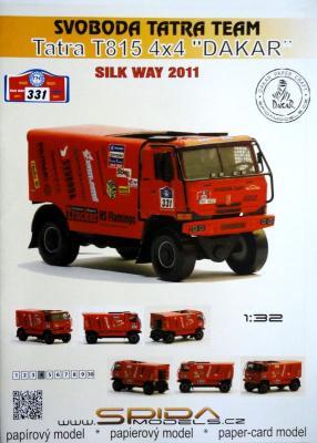 """029    *   Svoboda Tatra Team TatraT815 4x4 """"Dakar"""" (1:32)   *   SPIDA-DAKAR  331"""