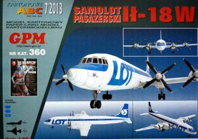 GP-344    *   7\13\360   *   Samolot Pasazerski IL-18W(1:50)