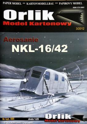 085    *   Aerosanie NKL-16/42 (1:25)    *    Orlik
