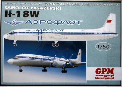 "GP-344a    *    Samolot pasazerski IL-18W ""Аэрофлот"" (1:50)"