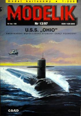"""MOD-013  *  13\97   *   U.S.S. """"Ohio"""" (1:200)"""