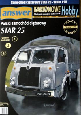 037   *   4\13   *   Polski samochod ciezarowy STAR 25 (1:25)  *   Answ KH