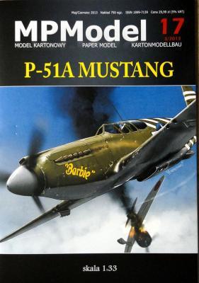 17   *    P-51A Mustang (1:33)    *   MP     +резка+колеса