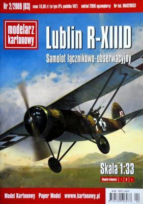 003  *   2\09  *  Lublin R-XIIID (1:33)   *   Modelarz kartonowy