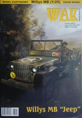 "WAK-094   *  4\13   *   Willys MB ""Jeep"" 1:25"