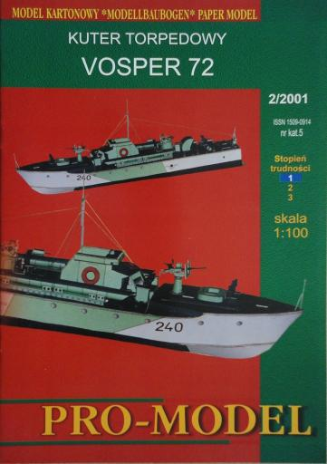 05   *   2|01   *   kuter  torpedowy  VOSPER  72 (1:100)   *   PRO-M