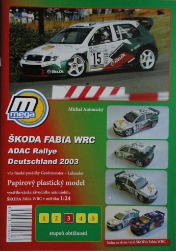 016  *  SKODA  FABIA  WRC 2003(1:24)   *  MEGA