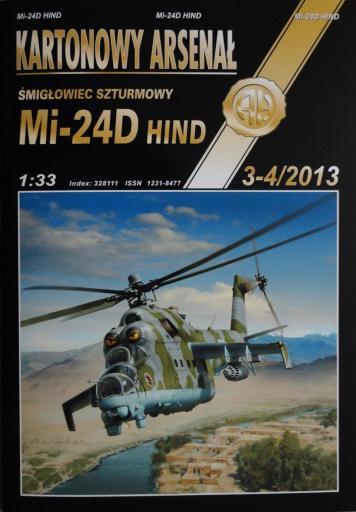 82   *   3-4\13   *   Mi-24 D  Hind(1:33)    *    HAL