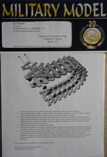 гусеницы PzKpfw II/Wespe(1:25)   *   HAL   2-3/1998,3-4/2007