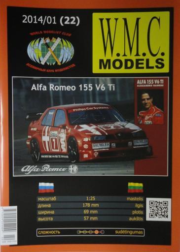 22*01\14Alfa-Romeo-155-V6-Ti (1:25)*WMC