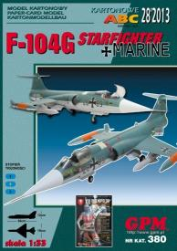 GP-365   *   28\13\380   *  F-104G  starfihter+marine(1:33)